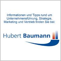 Hubert Baumann - Informationen und Tipps rund um Unternehmensführung, Strategie, Marketing und Vertrieb